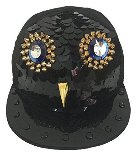 sombrero Sombrero hip Spikes Búho de plano Hombres béisbol COMVIP Roca remache del Punk hop FAfwgaq