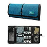 ProCase Accessories Bag Organizer, Universal Electronics Travel Gadgets Carrying Case Pouch for Charger USB Cables SD Memory Cards Earphone Flash Hard Drive -Teal