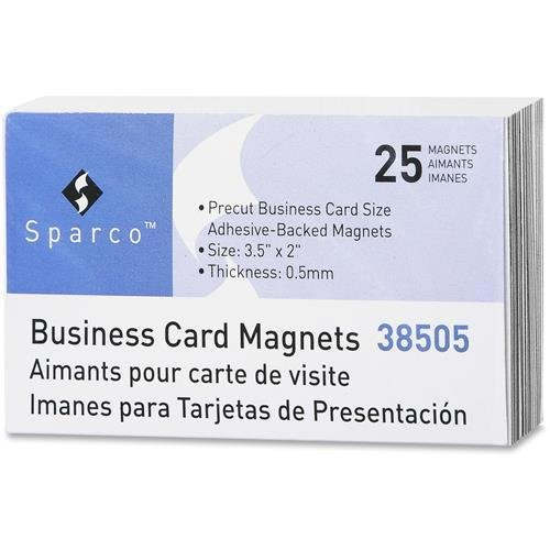(38505 Sparco 38505 Business Card Magnets - Rectangle - Adhesive - 25 / Pack)