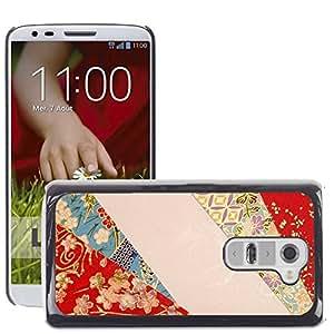 Etui Housse Coque de Protection Cover Rigide pour // M00150360 Fondo de papel de Japón Chiyogami // LG G2 D800 D802 D802TA D803 VS980 LS980
