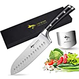 Santoku Knife - MAD SHARK Pro Kitchen Knives 7 Inch Chef's Knife, Best