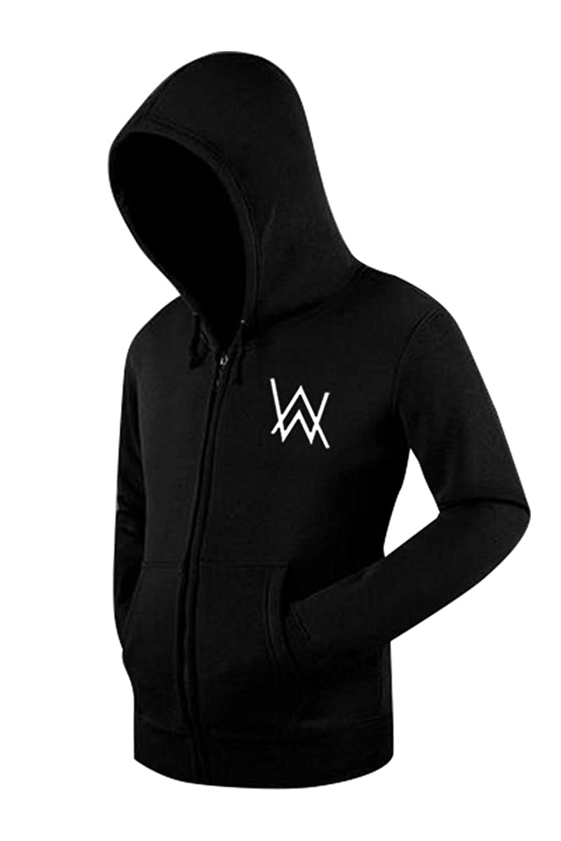 Genzn Unisex DJ Hoodie Cotton Fleece Sweatshirt Music Cosplay Pullover