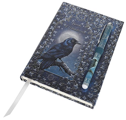 luna-lakota-spells-raven-crow-675-hard-cover-embossed-journal-book-with-pen