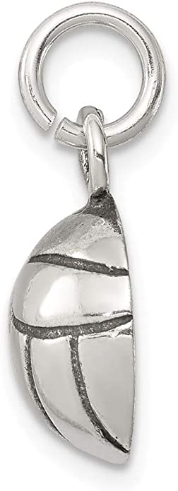 16-20 Mireval Sterling Silver Antiqued Whale Charm on a Sterling Silver Chain Necklace