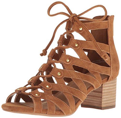 Sandals Suede Aerosoles (Aerosoles Women's Middle Ground Dress Sandal, DK Tan Suede, 6 M US)