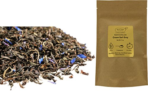 Beantown Tea & Spices - Cream Earl Grey. Premium Loose Leaf Black Tea. 100% Natural. (2 Ounces)
