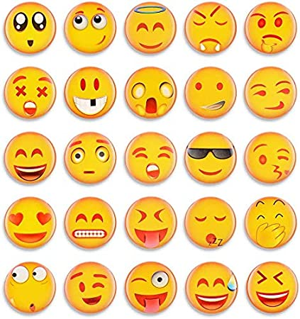 MORCART 54 Pcs Emoji Colorful and Practical Fridge Magnets for Refrigerator Locker Office Whiteboard Lockers Classroom Home Decor Funny Gifts for Friends 54pcs multicolor funny emoji