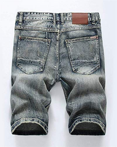 Da Di Casual Jeans Summer Hole Slim Bronzegrau Fit Retro Ragazzi Nge Rt Classiche Corti Stile Pantaloncini Fashion Uomo ZdwHEnZq