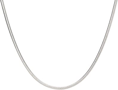 1.2mm Classic Box Link Italian Chain Necklace in Solid 925 Italy Sterling Silver