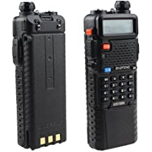 Baofeng UV-5R Dual Band UHF/VHF Radio Transceiver W/Upgrade Version 3800mah Battery With Earpiece - Built-in VOX Function, 136-174 / 400-480MHz