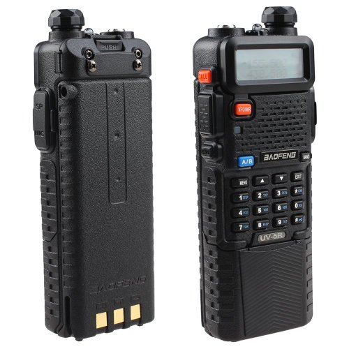 Baofeng UV-5R Dual Band UHF VHF Radio Transceiver W Upgrade Version 3800mah Battery with Earpiece – Built-in VOX Function, 136-174 400-480MHz