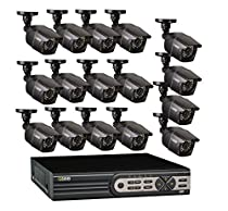 Q-See QT5616 2TB HDD Hard Drive 16 Channel 960H/D1 DVR Premium Security System with 16 700TVL Cameras