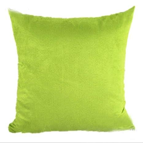 WHALE LANDY Plain Suede Pillow Covers Cotton Soft Simple ...