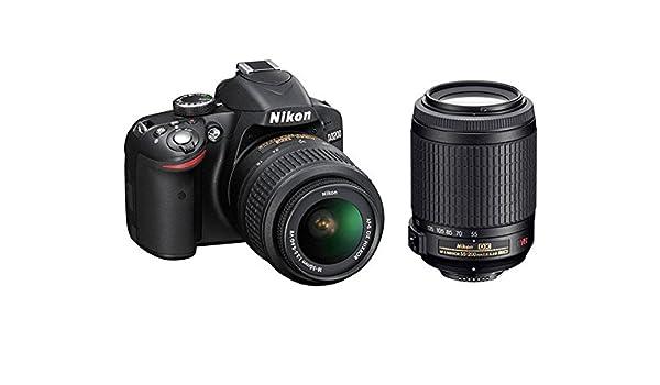 Nikon D3200 - Cámara réflex + af-s dx 18-55 mm + 55-200 mm vr ...