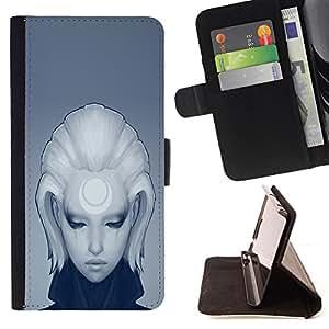 Jordan Colourful Shop - cool deep sad girl blonde anime For Apple Iphone 6 PLUS 5.5 - < Leather Case Absorci????n cubierta de la caja de alto impacto > -