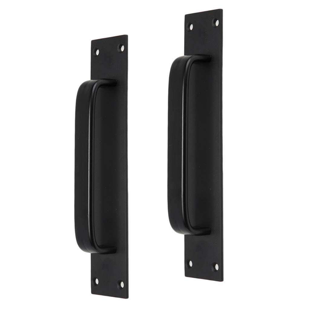 2x Tirador de Puerta Interior de Aluminio Manija Aluminio Puerta Corredera negro 5705