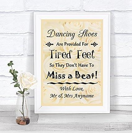 Cartel de boda personalizado con zapatos de baile, diseño de ...