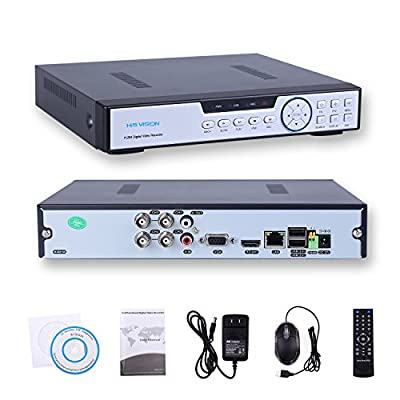 HIS VISION 4CH 1080N AHD DVR 960H/720P Realtime Digital Recorder Video Surveillance System,Hybrid NVR+AHD+DVR 3-in-1 Cloud DVR Motion Detection P2P QR Scan Phone Remote Access HDMI VGA Output-NO HDD
