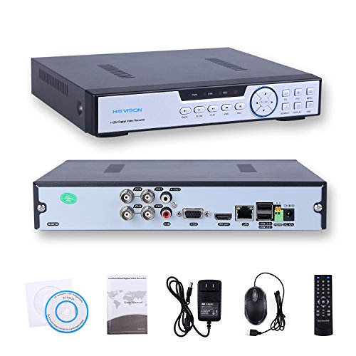 HISVISION 4CH 1080N AHD DVR 3-in-1 HVR (1080P NVR+1080N AHD/960H Analog+720P Hybrid) Real-Time Surveillance Security DVR HDMI/VGA Output P2P Cloud Mobile QR Scan Remote Access Motion Detection-No HDD - Logan Wall Mirror
