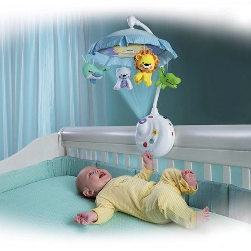 Fisher-Price 2-in-1 Projection Crib Mobile, (Jungle Friends Mobile)