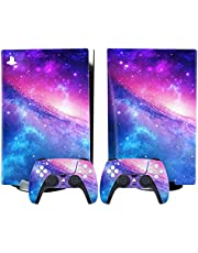 Skin Sticker Decal Cover for Playstation 5 (PS5) CD Disk and Digital Edition Console and Controllers E-Disk Edition