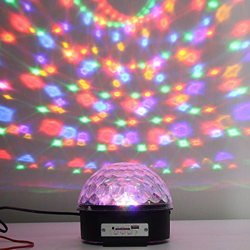 Stage Lights,Prolight LED Grystal magic ball light Led Projection Party Disco Ball DJ Lights Bluetooth Speaker Rotating Light with Remote Control Mp3 Play for KTV Xmas Party Wedding Show Club Pub by Prolight (Image #6)