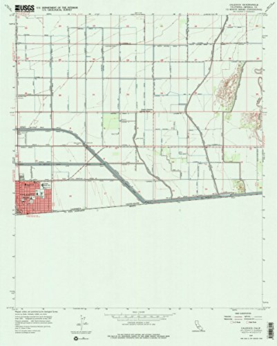1957 Calexico, CA | USGS Historical Topographic Map |Fine Art Cartography Reproduction - Calexico Map Ca