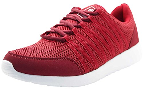 Crosshatch New Mens Designer Low Ankle Light Weight Sneakers Mesh Trainer Shoes Sun Dried Tomato