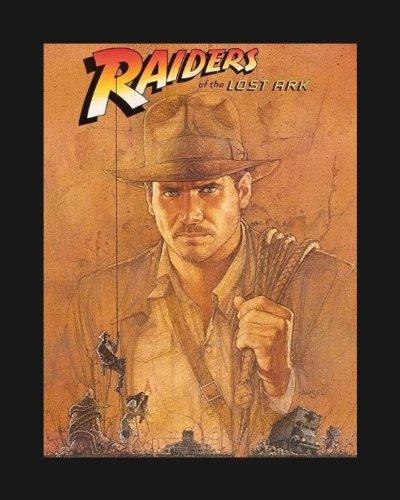 Indiana Jones Raiders Of The Lost Ark Movie Art Print   Movie Memorabilia   11X17 Poster Framed  Vibrant Color  Features Harrison Ford  Karen Allen  Paul Freeman  Ronald Lacey  John Rhys Davies  Denholm Elliott