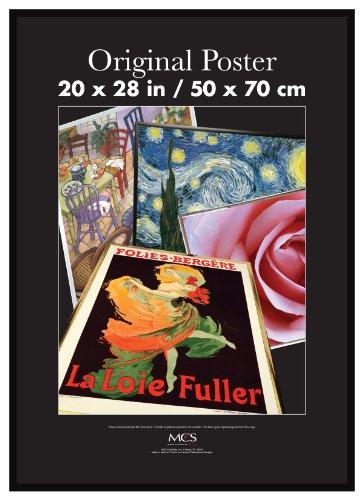 mcs 20x28 inch original poster frame black 23038 buy