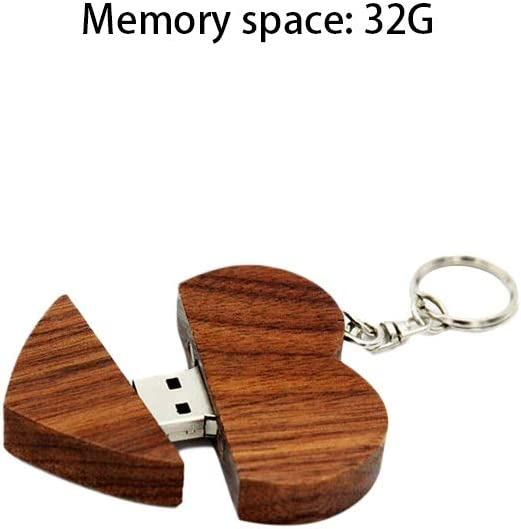 Wooden Thumb Drive 10-11 s Size : 32G Computers Accessories USB 2.0 Creative Love Model Flash Drive 4G//8G//16G//32G Reader Read Speed 4-18MB