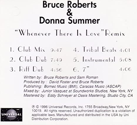 Donna Summer, Bruce Roberts - Whenever There Is Love - Amazon com Music