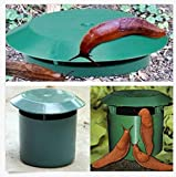 Snail Trap Vegetable Garden Safe and Physics Environmental Limax Simple Way to Catchs Snail and Slugs, Snail Slug Trapper 2 Pack (Round shape)