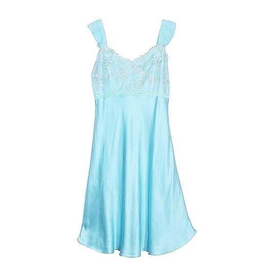 Yijiayu Camisones para Mujer Verano camisón Fino Falda de Encaje ...