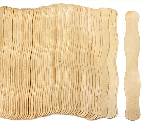 200 Natural Wavy Jumbo Wood Fan Handles Wedding Fan Sticks by CraftySticks]()