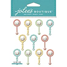 Jolee's Boutique Dimensional Stickers-Baby Rattle