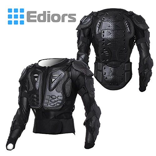 Goldfox Men's Motorbike Motorcycle Protective Body Armour Armor Jacket Guard Bike Bicycle Cycling Riding Biker Motocross Gear Black(XXX-Large)