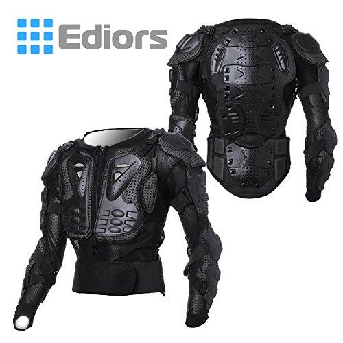 Goldfox Men's Motorbike Motorcycle Protective Body Armour Armor Jacket Guard Bike Bicycle Cycling Riding Biker Motocross Gear Black(XXX-Large) -