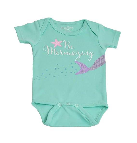 4769ed390e55 Amazon.com: Sara Kety Cute Baby Mermaizing Tiffany Green Romper, Mermaid  Jumpsuit, Newborn Girl: Clothing