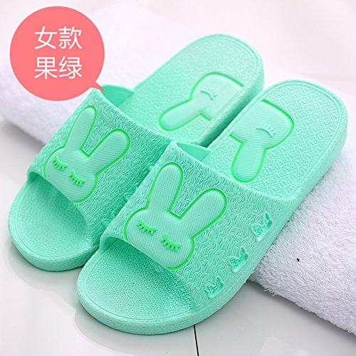 cartoon spiaggia fankou scarpe verde donna 40 cool pantofole bagno Uomini carino coppie home da antiscivolo estate pantofole qErxq7a6