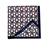 Lovely Item Men's Soft Floral Print Cotton Party Square Pocket Handkerchief