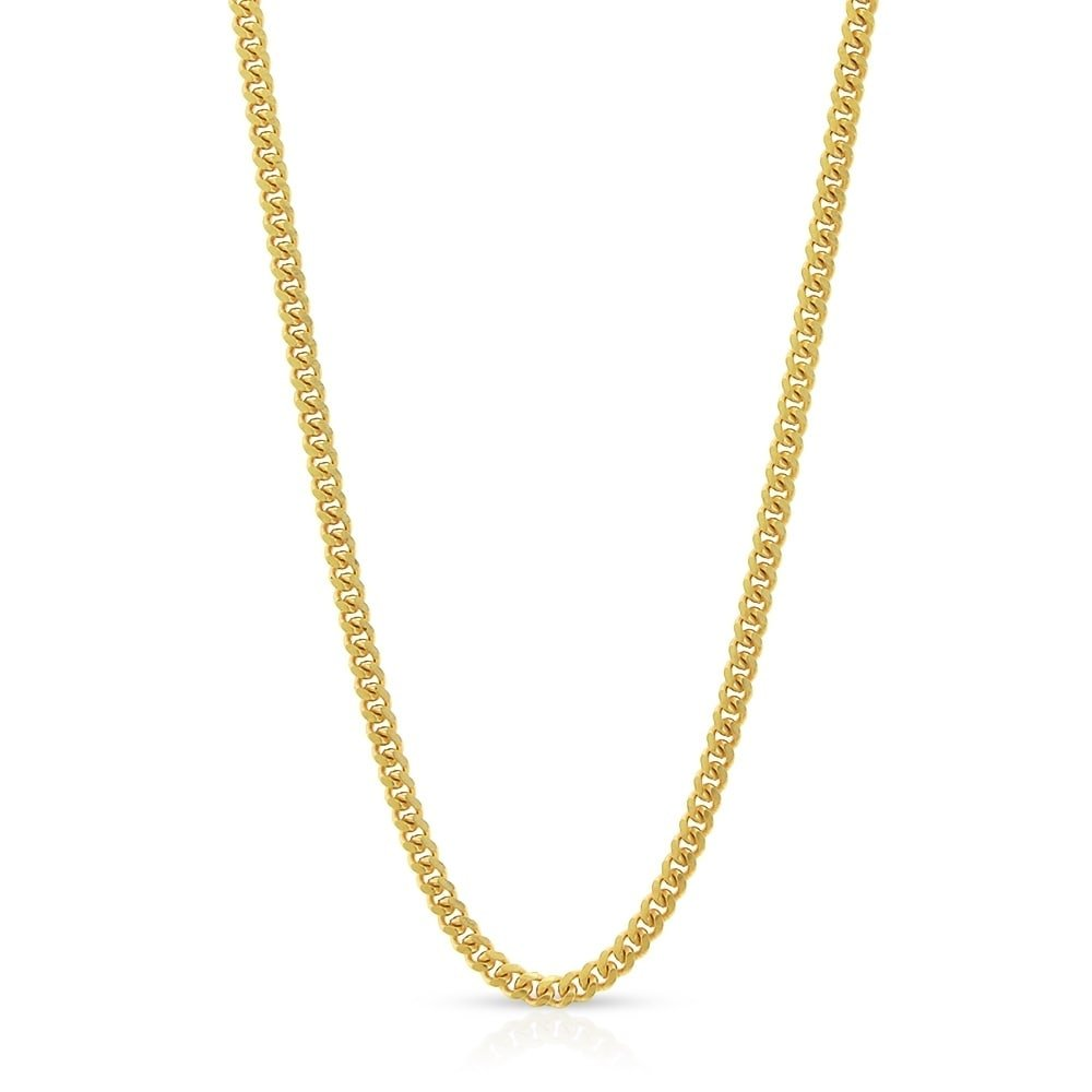 10k Yellow Gold 1.5mm Solid Miami Cuban Curb Link Thick Necklace Chain 16'' - 30'' (18)