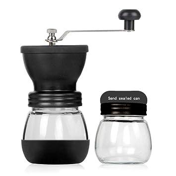 VATHJ Molinillo de café de manivela manual, molinillo de café lavado a mano, máquina de café manual, molinillo de café, molinillo doméstico, lata sellada: ...