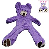(Purple 200CM) - Life Size Huge Plush Teddy Bear Unstuffed Soft Giant Animal Toy (200cm / 2m), DIY Purple Bear for Valentine's Day Birthday Gifts, Only Cover, Sealing with the Zipper at Shell's Back