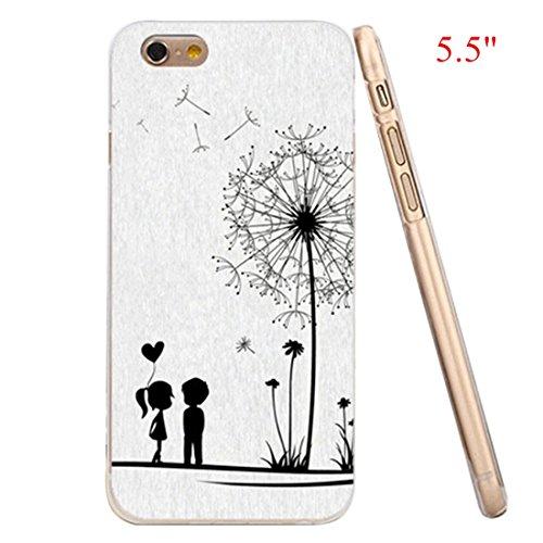 "iPhone 6 Plus Case,iRonsnow(TM) High Quality Pattern Art Gel TPU Bumper Rubber Skin Flexible Slim Soft Case for Apple iPhone 6 Plus(5.5"")-Retail Package (6 Plus--Dandelion)"