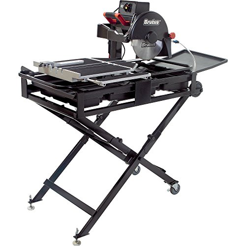 Brutus 61024BR Professional Tile Saw with 10-Inch Diamond Blade, 1-1/2 HP Motor and Stand, 24-Inch