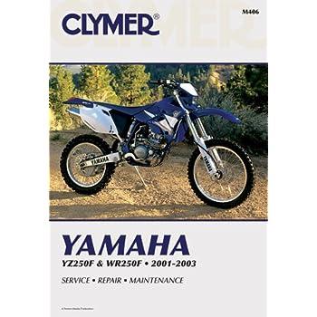 amazon com clymer repair manual for yamaha yz250f wr250f 01 03 rh amazon com 2001 yamaha yz250 service manual pdf 2001 Yamaha YZ250F Graphics