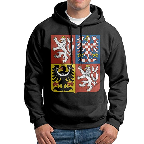 Men's Coat Of Arms Of Czech Republic Hoodies Hooded Sweatshirt Pullover Sweater, Drawstring Hooded Sport - Arms Czech Coat Of