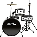 Sound Percussion Labs Lil Kicker - 3 Piece Jr Drum Set with Throne White