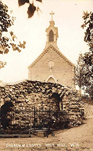 Real Photo Postcard Church and Grotto in Holy Hill, Wisconsin~121468